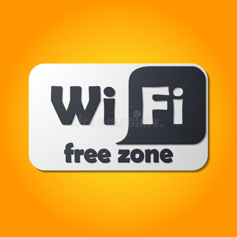 Zona franca Wi-Fi, etiqueta ilustração royalty free