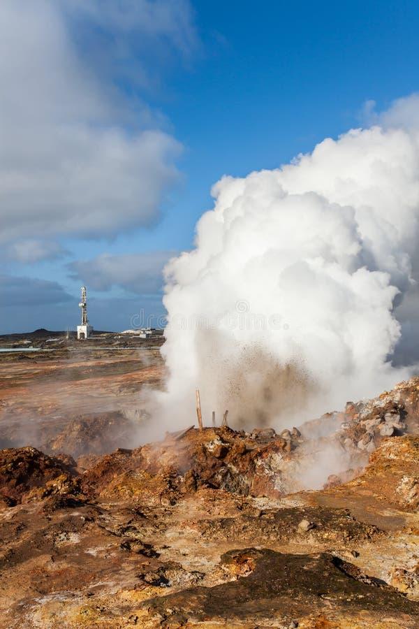 Zona geotermica fotografia stock