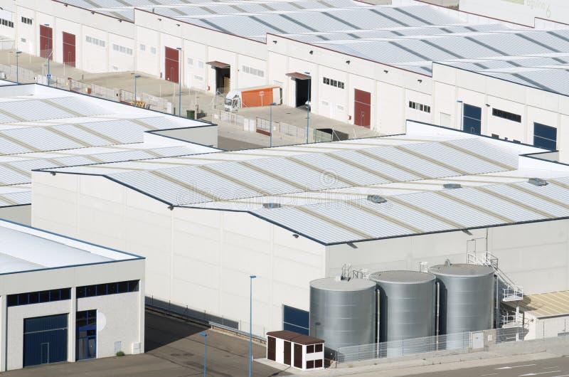 Zona industrial fotografia de stock royalty free