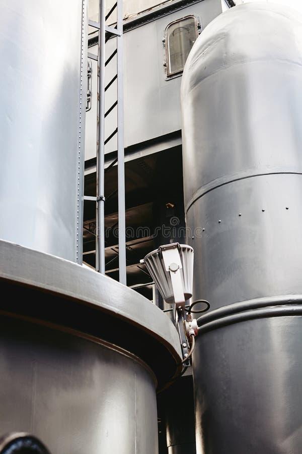 Zona industrial, tuberías de acero imagen de archivo libre de regalías