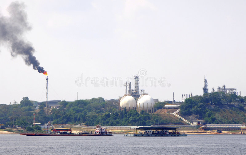 Zona industriale fotografie stock libere da diritti