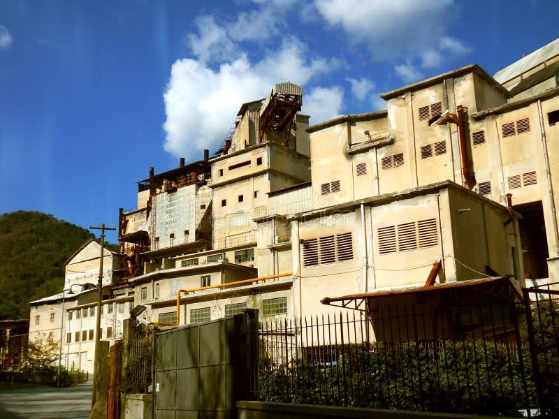 Zona industriale a Genova immagini stock