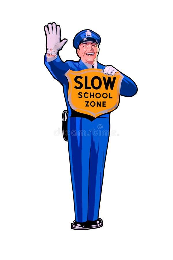 Zona lenta de la escuela ilustración del vector