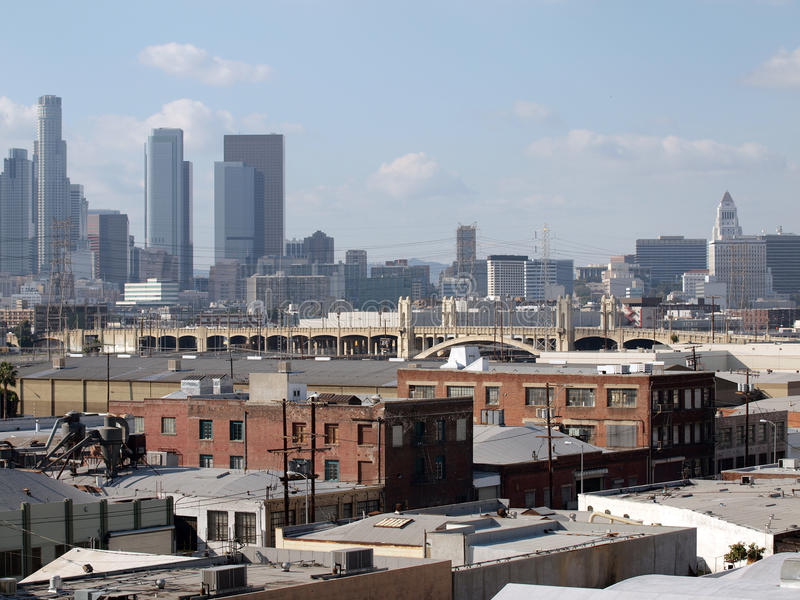 Zona leste industrial de Los Angeles imagens de stock