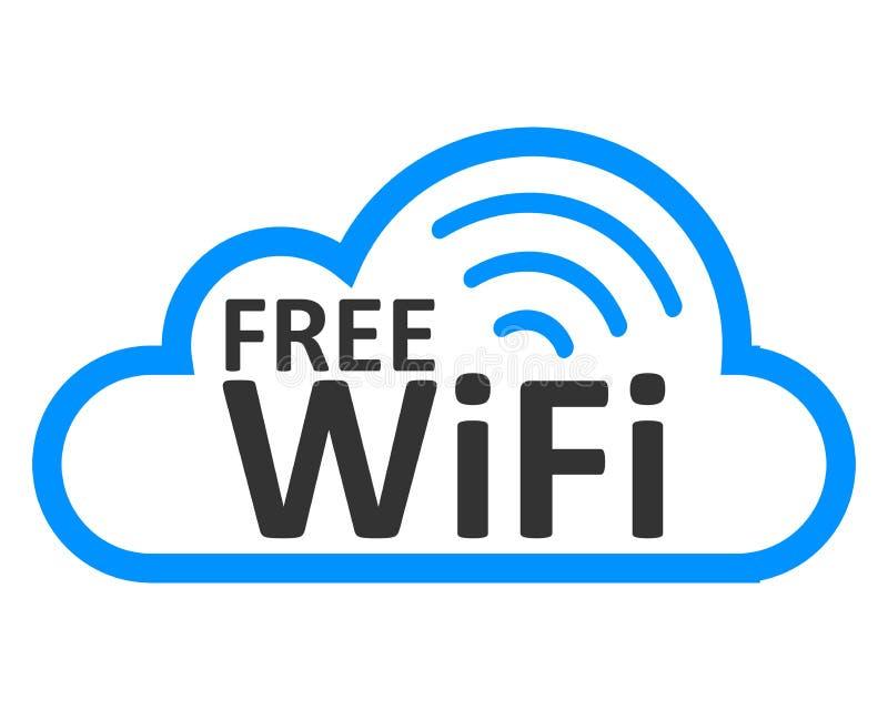 Zona libera in nuvola - vettore di riserva di logo di wifi illustrazione vettoriale