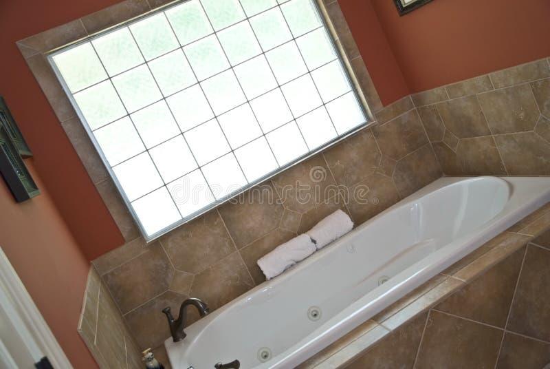 Zona moderna vasca/del bagno fotografia stock