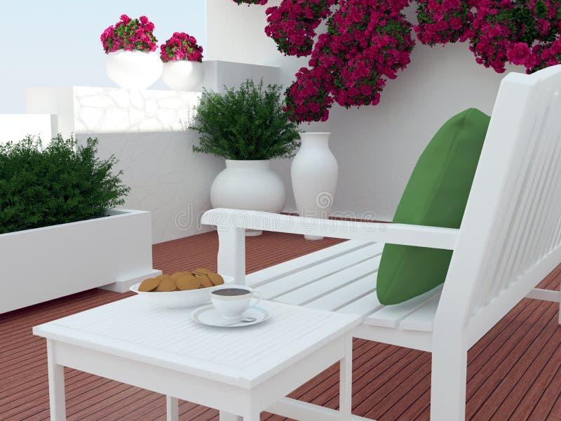 Zona para sentarse del patio imágenes de archivo libres de regalías