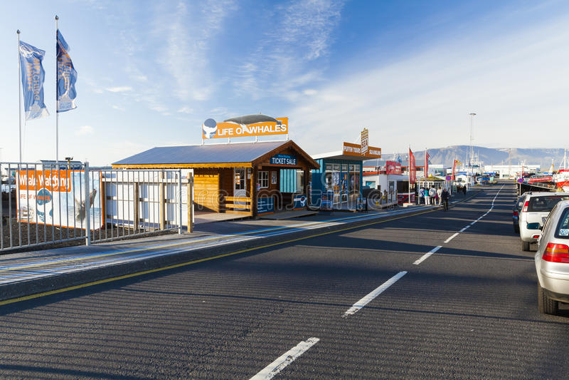 Zona portuaria de Reykjavik fotos de archivo