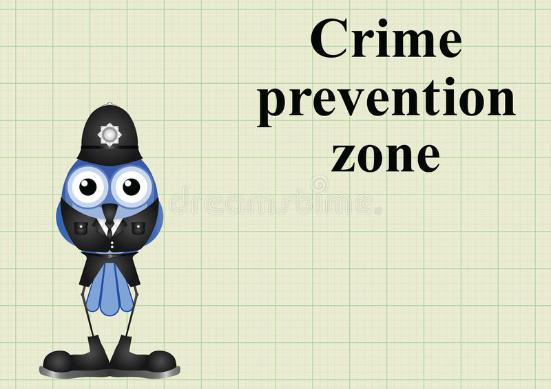 Zona Reino Unido da prevenção da criminalidade ilustração do vetor