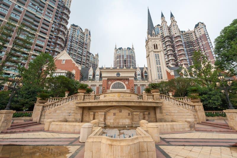 Zona residenziale britannica di Ville a Chengdu Cina fotografia stock