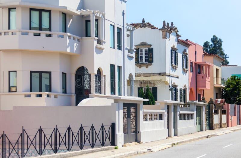 Zona residenziale delle ville fotografie stock