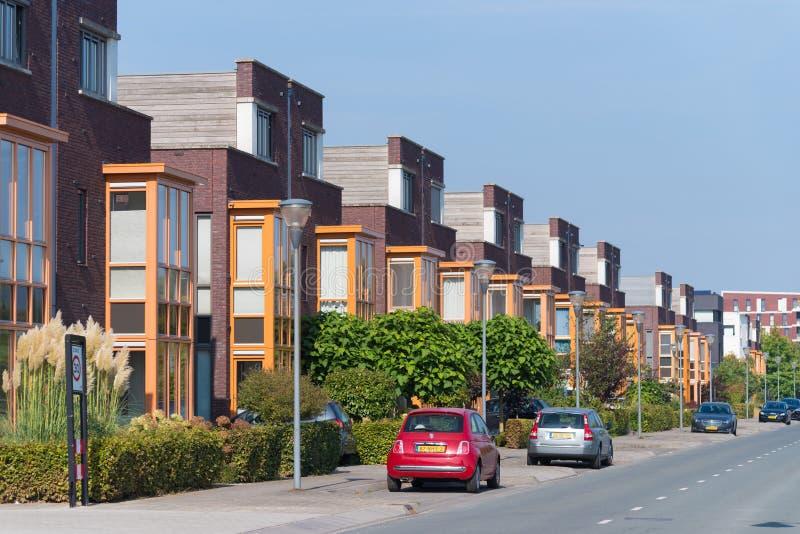 Zona residenziale nei Paesi Bassi fotografia stock