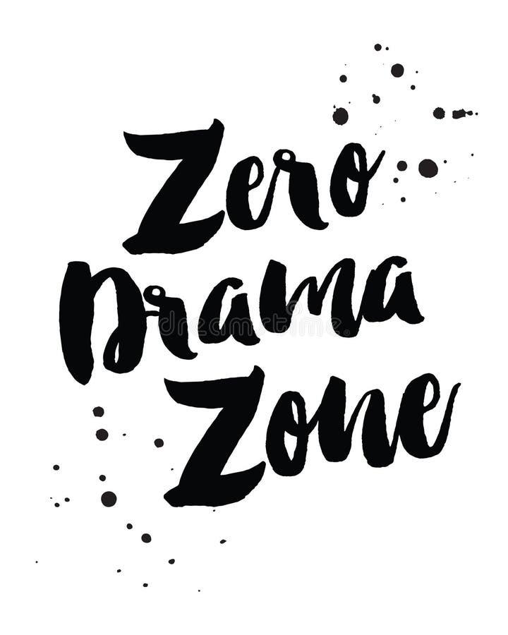 Zona zero do drama ilustração royalty free