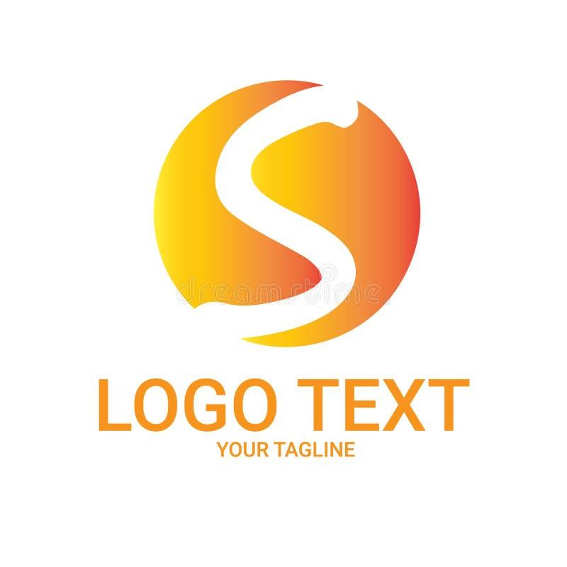 Zonbrief Logo Vector Template royalty-vrije stock fotografie