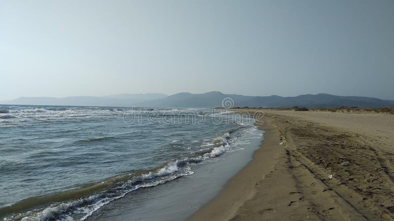 Zondag aan de kust royalty-vrije stock fotografie