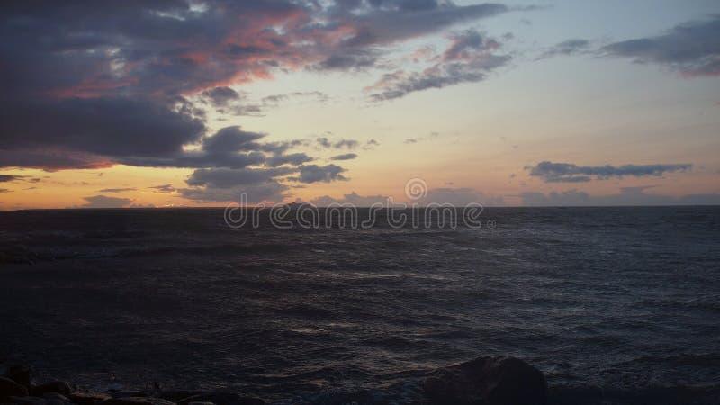 Zondag in de Oostzee, de Golf van Finland stock afbeeldingen