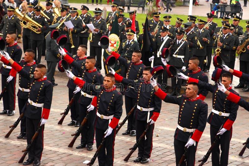 Zondag het Marcheren parade Arequipa royalty-vrije stock afbeelding