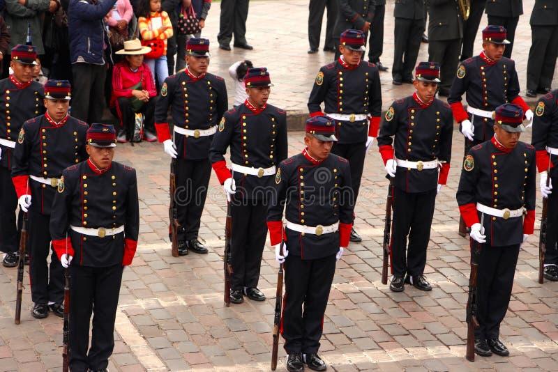 Zondag het Marcheren parade Arequipa stock fotografie