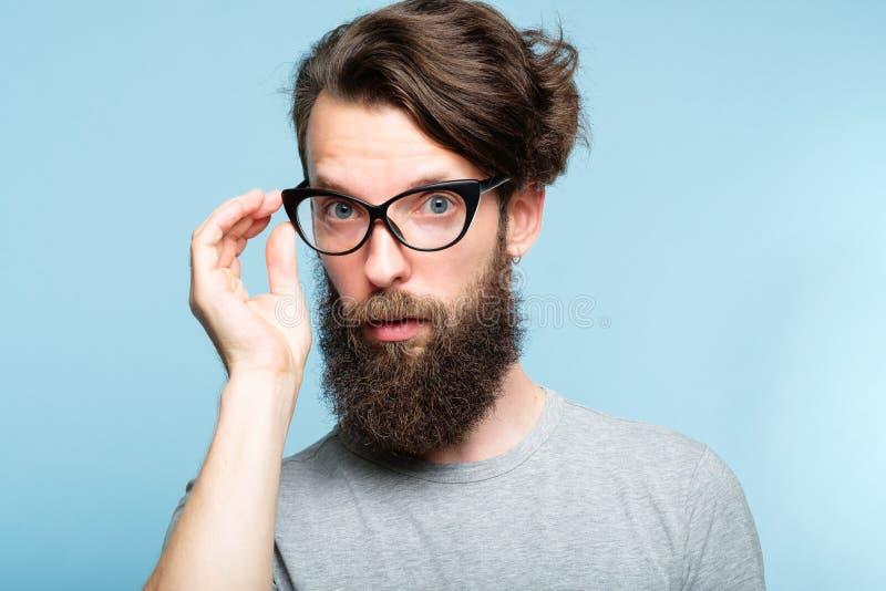 Zonderlinge de kereloogglazen van leraars gebaarde hipster stock afbeeldingen