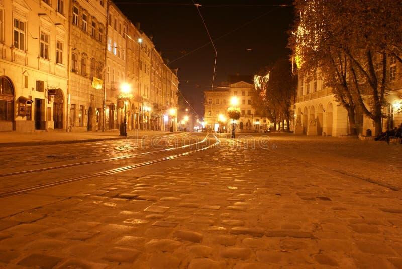 Zone centrale de Lvov photo libre de droits