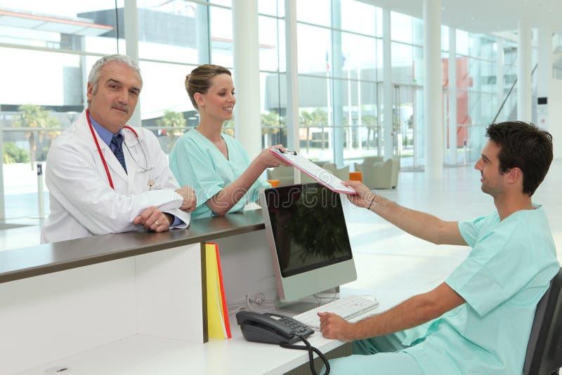 Zone d'accueil d'hôpital photo libre de droits