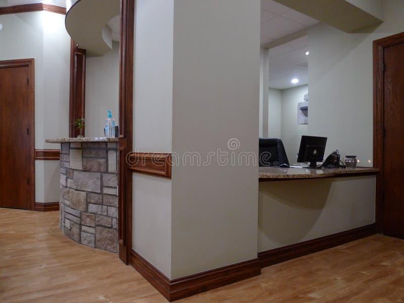 Zone d'accueil médicale ou dentaire moderne de bureau image libre de droits