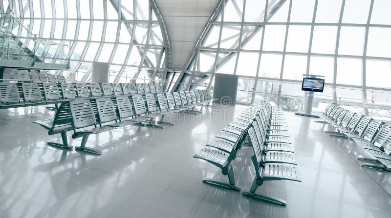 Zone d'embarquement d'aéroport image libre de droits