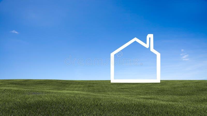 Zone d'herbe verte et de ciel illustration libre de droits
