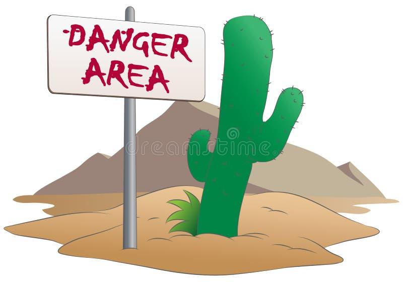 Zone dangereuse illustration stock