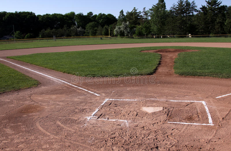 Zone de base-ball inoccupée images stock