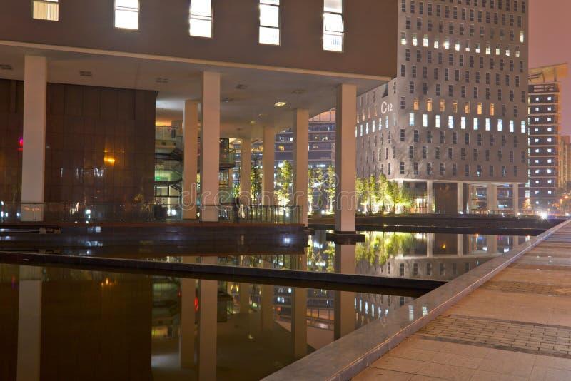 Zone de bureau de nuit images libres de droits
