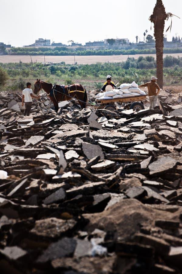Zone de cadre de Gaza images libres de droits
