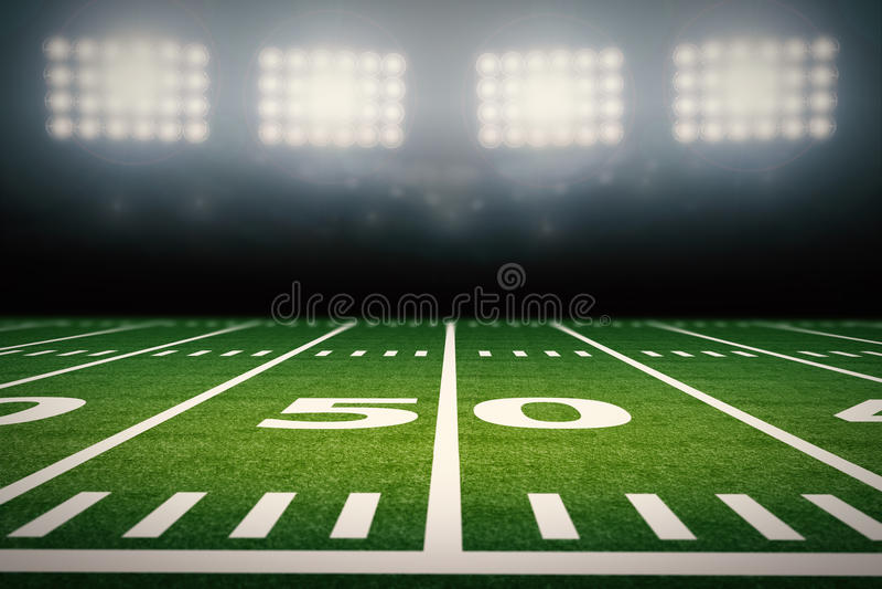 Zone de football américain illustration libre de droits