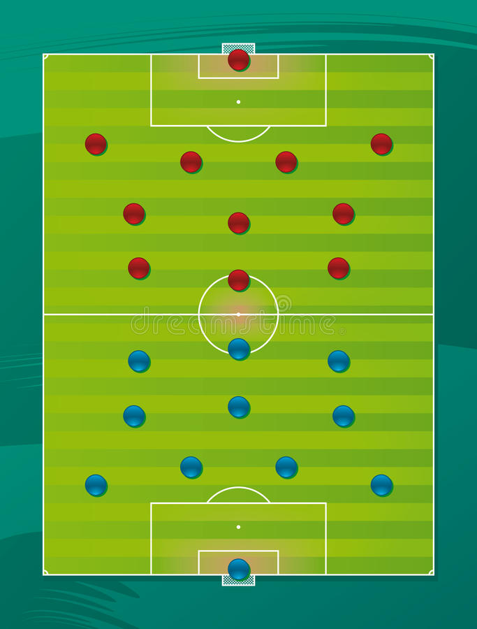 Zone de la tactique d'équipe de football illustration libre de droits