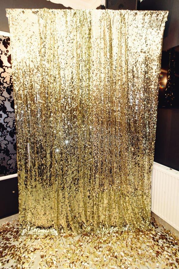 Zone de luxe élégante d'étincelle pour des photos à la PA d'or d'anniversaire photos libres de droits