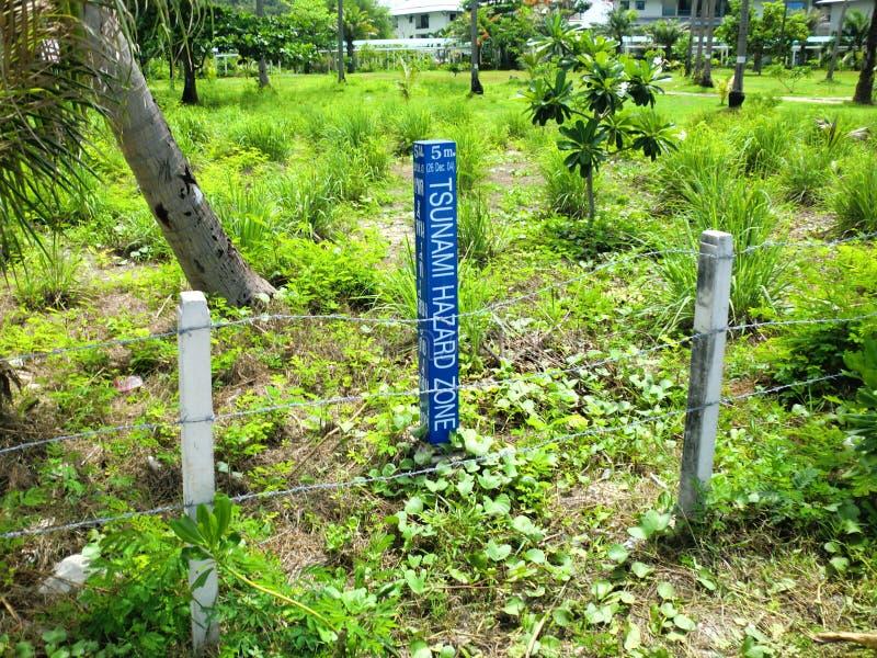 Zone de risque de tsunami photo libre de droits
