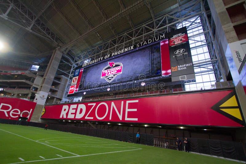 Zone de rouge d'Université de Phoenix d'Arizona Cardinals image libre de droits