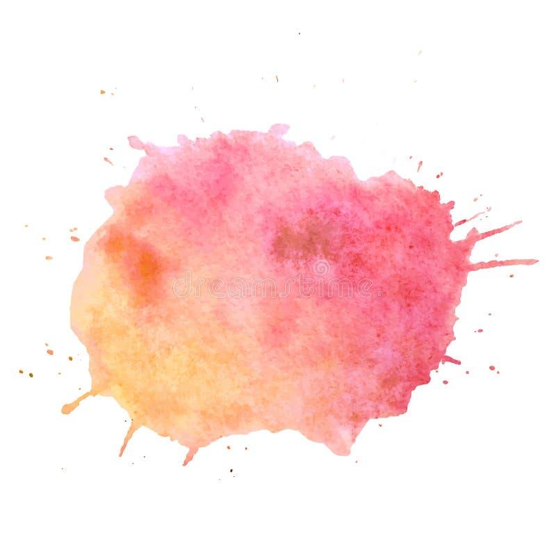 Zone de texte de vecteur de goutte de peinture d'aquarelle Goutte d'isolement de peinture d'aquarelle pour le Web, vente, bannièr illustration stock