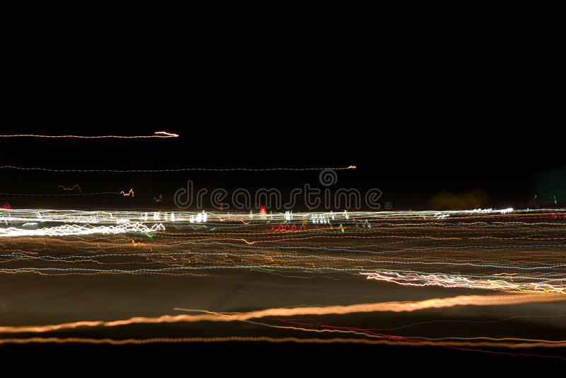 Zone des lumières abstraites de nuit photo stock