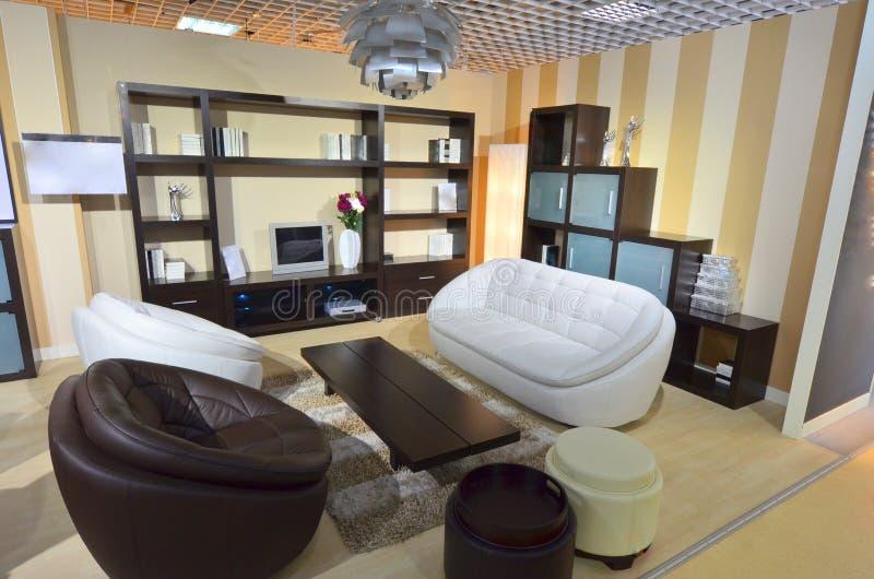 Zone entièrement meublée de salle de séjour à l'intérieur de notre maison photographie stock