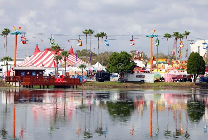 Zone fieristiche dello stato di Florida immagine stock