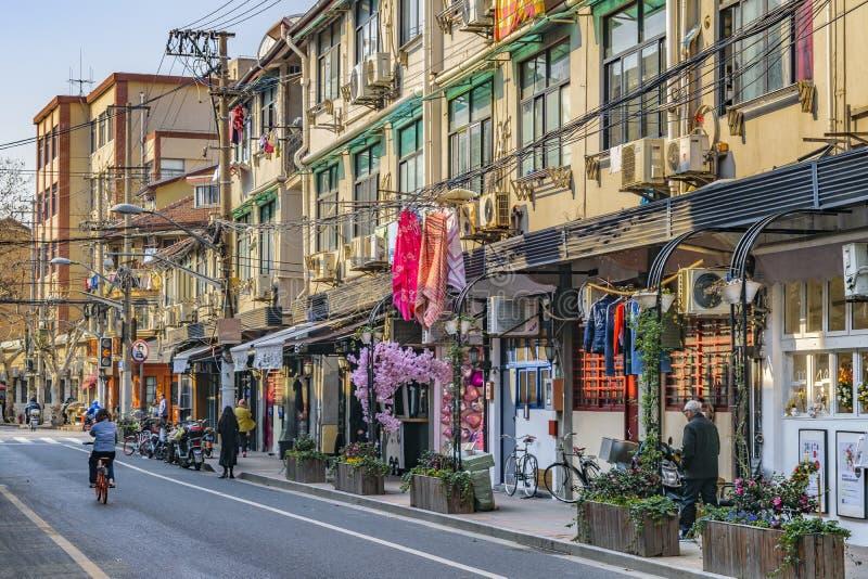 Zone française de concession de Changhaï photo stock