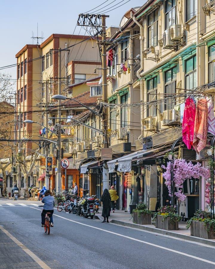 Zone française de concession de Changhaï images libres de droits