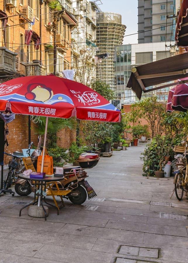 Zone française de concession de Changhaï image libre de droits