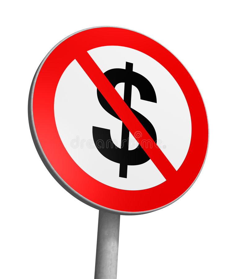 Zone franche du dollar illustration stock