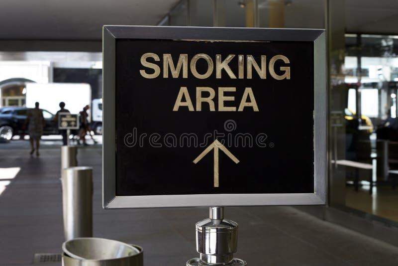 Zone fumeur photographie stock libre de droits