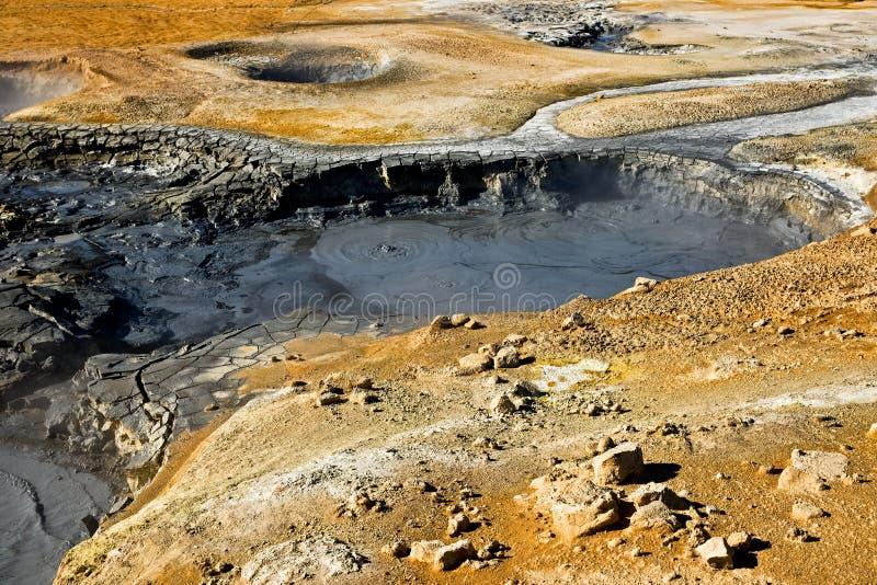 Zone géothermique, Islande. images libres de droits