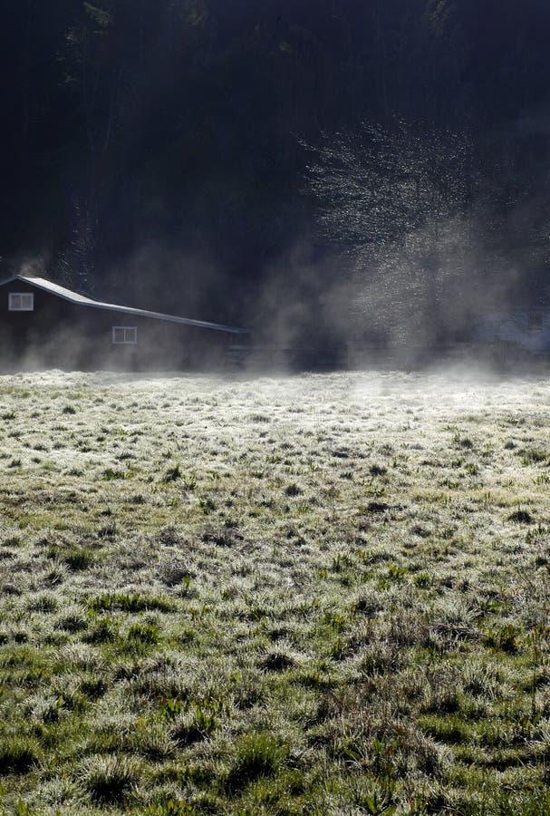 Zone givrée de ranch photographie stock libre de droits