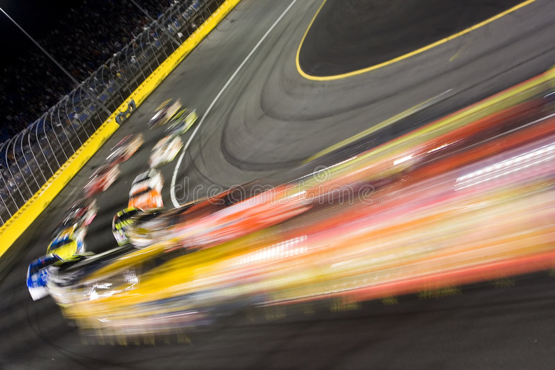 Zone par l'enjeu All-Star du virage 4 NASCAR photo stock