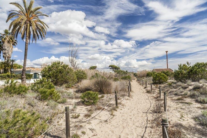 Zone protégée naturelle Els Muntanyans à Torredembarra, Costa Dor images libres de droits